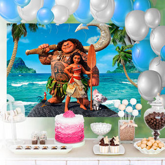 Moana: Free Printable Party Photo Call.