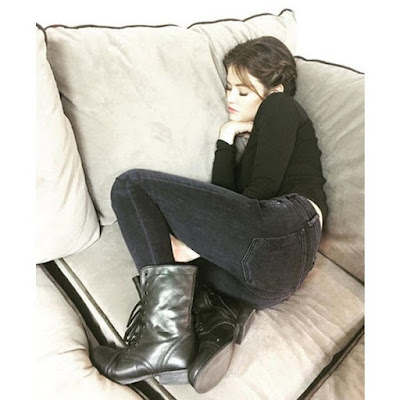 "Lucy Hale sleeping napping on set of ""Pretty Little Liars"""