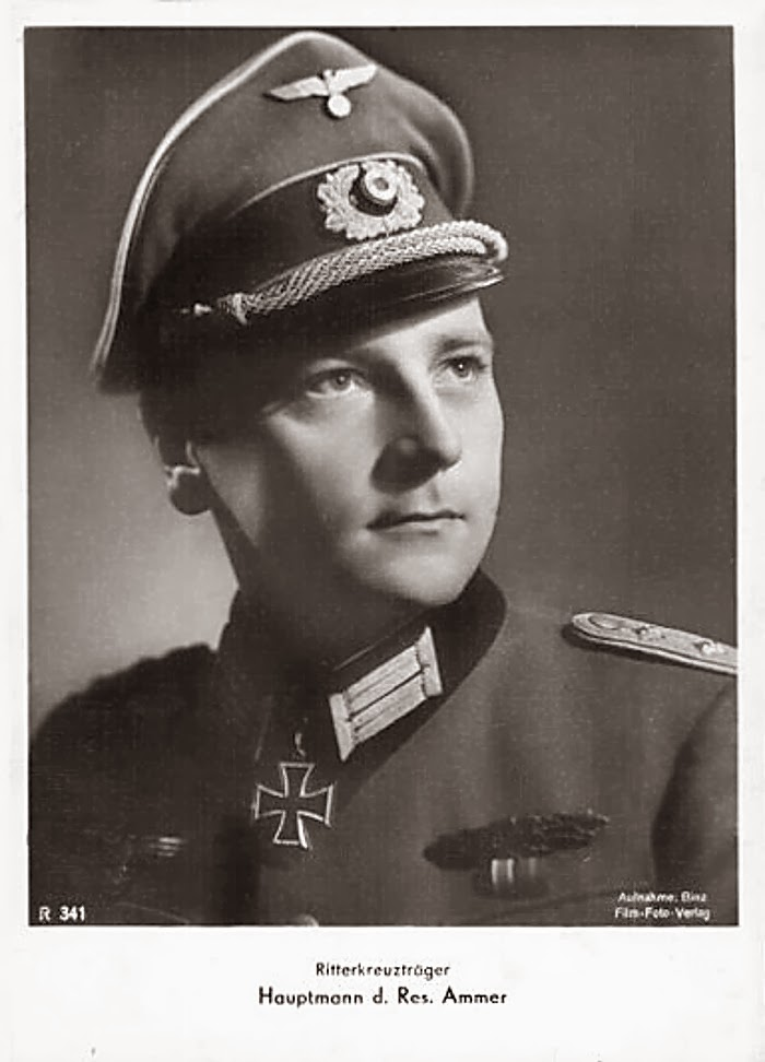 Hermann Ammer Ritterkreuzträger Knight Cross Holder Postcard