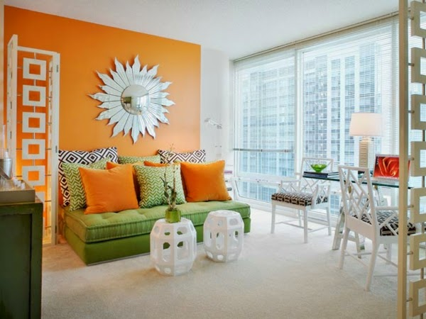 Orange Living Room Schemes Red Sofas In This Is 7 Design Ideas And Color Cobinations Paint Colors Combination With Green Furniture