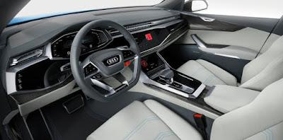 Audi Q8 SUV Concept Cabin view