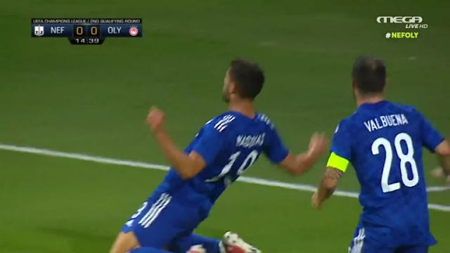 Νέφτσι Μπακού-Ολυμπιακός 0-1 : Νίκησε ξανά, προκρίθηκε και συνεχίζει.