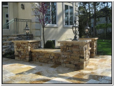 Pics Of Stone Patios Wall