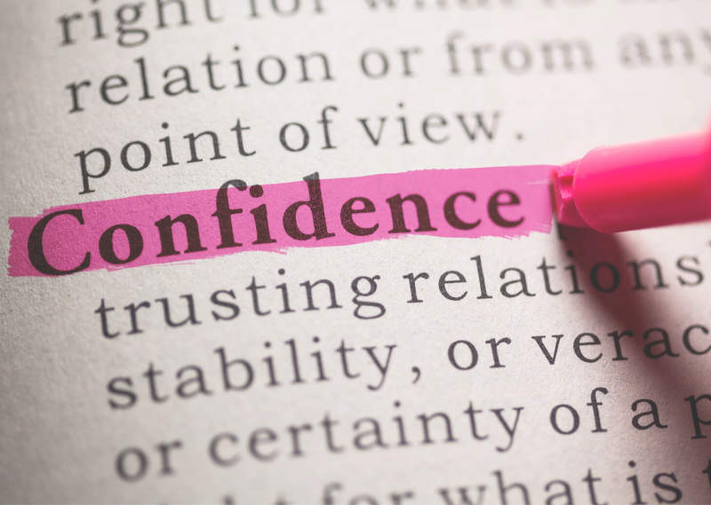 "The word ""confidence"" in a dictionary in a post about 8 simple things you can do to boost your confidence"