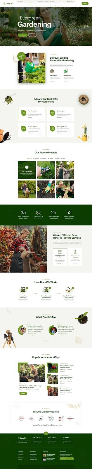 Garden & Landscaping Website Template