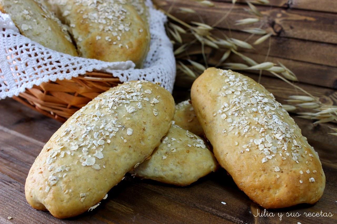 Panecillos de leche con avena. Julia y sus recetas