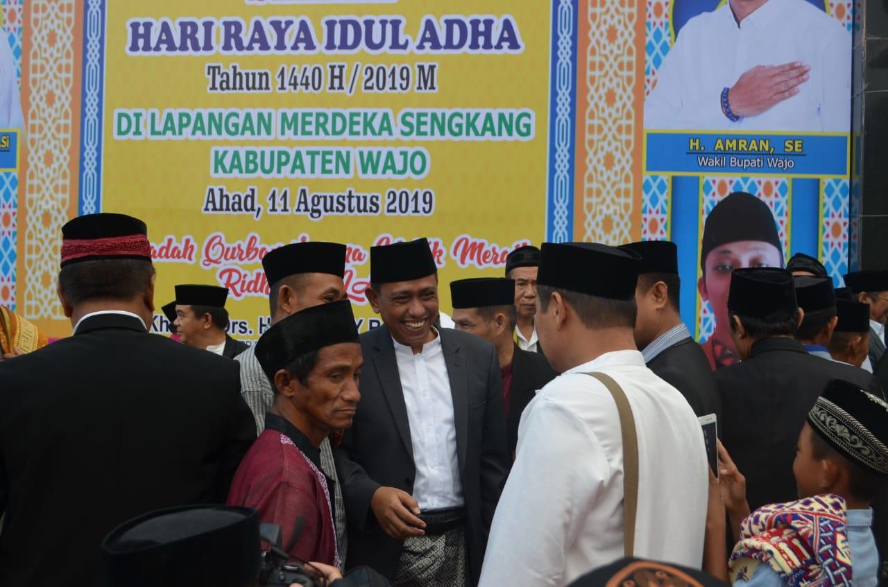 Bupati dan Wabup Wajo Laksanakan Shalat Idhul Adha 1440 H, Ini Agendanya