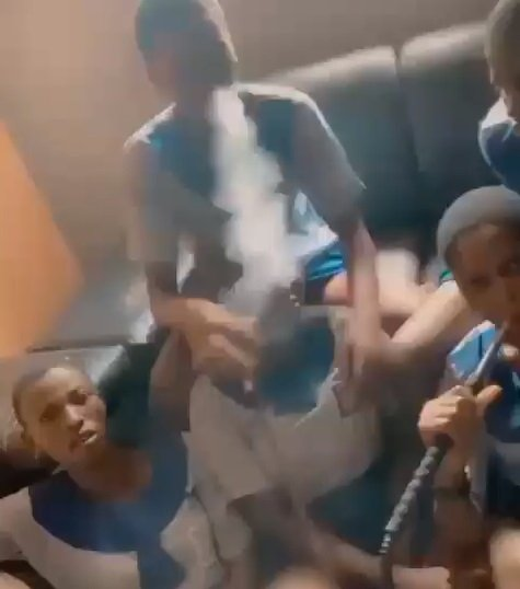 """Lagos State suspended five pupils caught in a video smoking """"shisha"""" #hypebenue"""