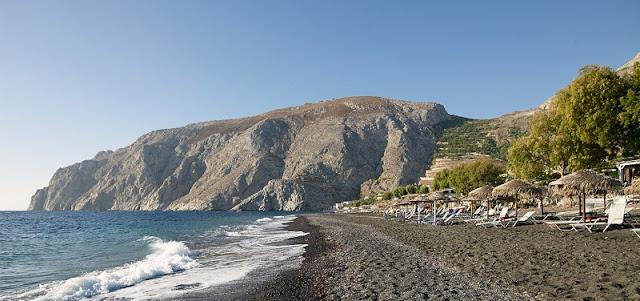 Praia Kamari, Santorini