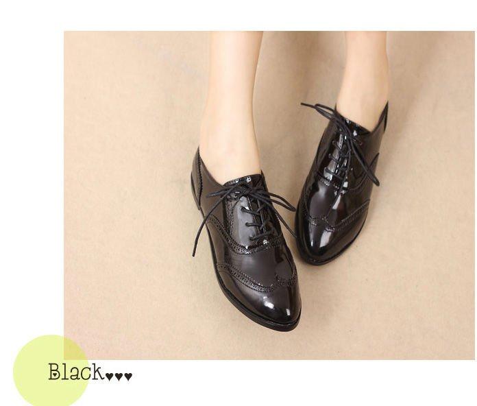 Rounded Toe Shoes Black Kids Kmart Flat
