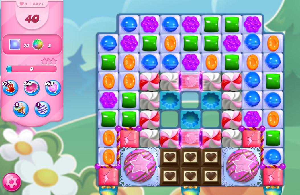 Candy Crush Saga level 8421