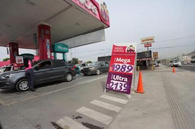 Señala que en Sonora no hay mucha diferencia en el precio de la gasolina