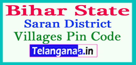 Saran District Pin Codes in Bihar State