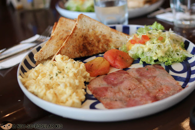 Hearty Breakfast Plate of Cafe Breton