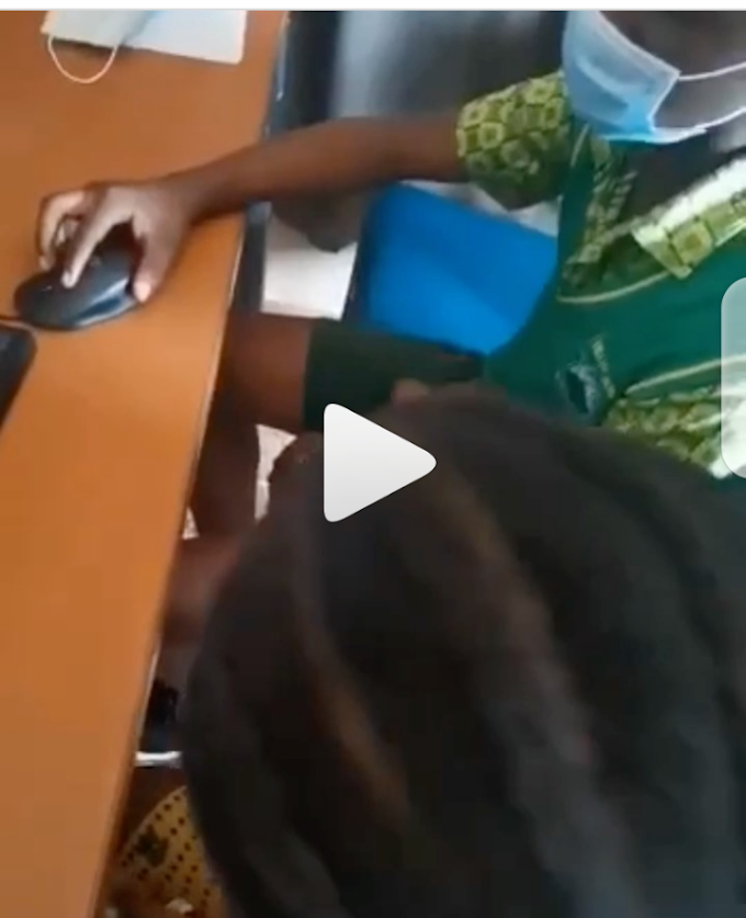 Female Student Captured Giving BJ to Her Teacher in ICT lab -Watch Video