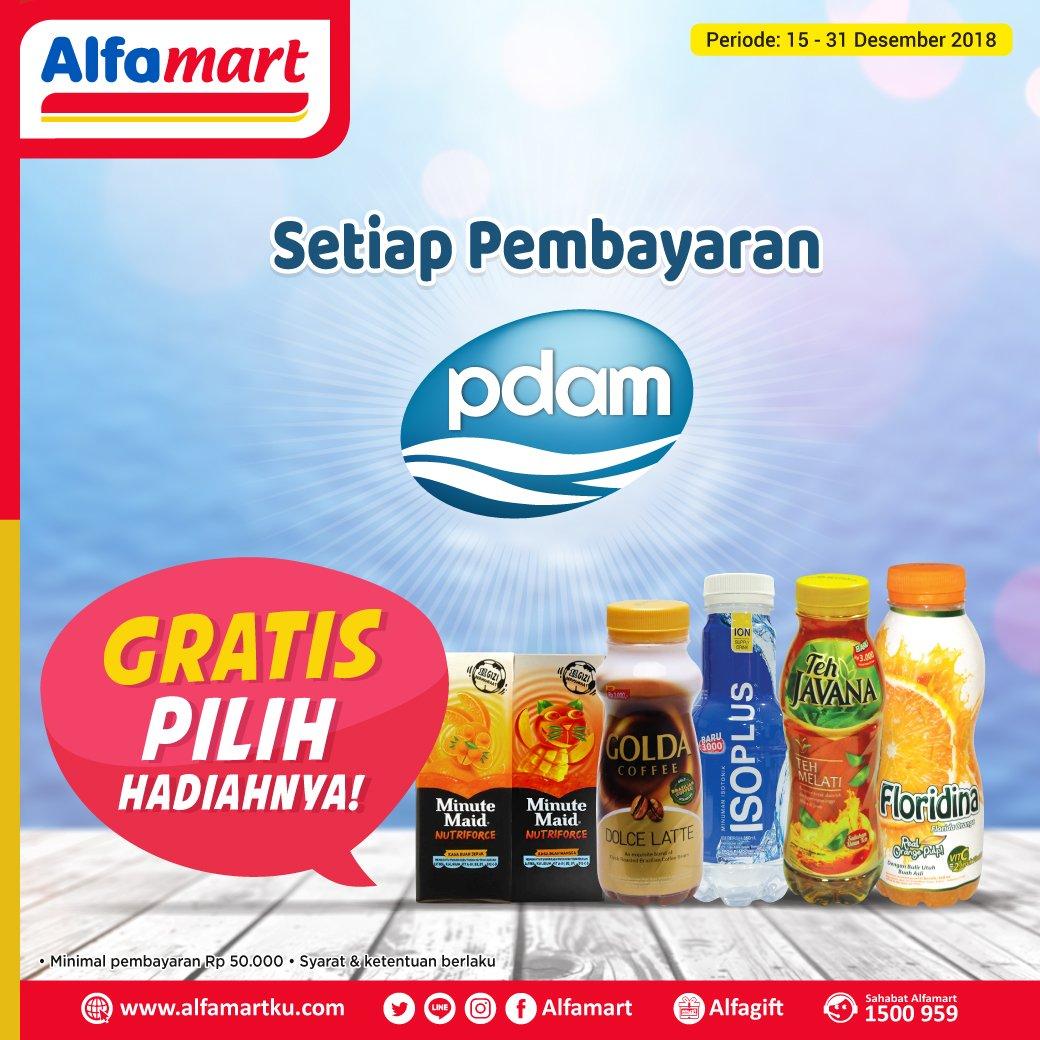 #Alfamart - Promo Gratis Minuman Setiap Pembayaran PDAM (s.d 31 Des 2018)