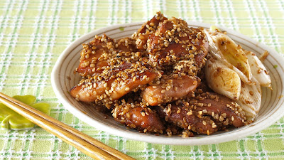 Sesame Seeds Crusted Chicken Teriyaki (No Alcohol)