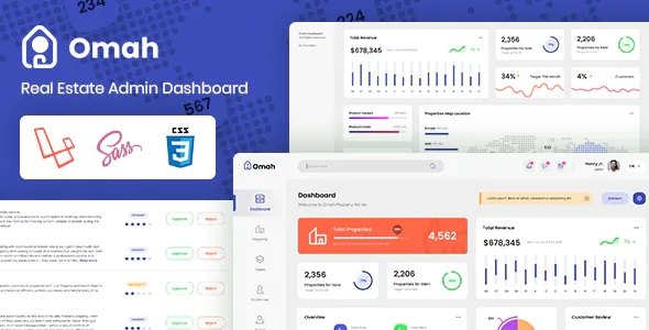 Best Real Estate Laravel Bootstrap Admin Dashboard Template