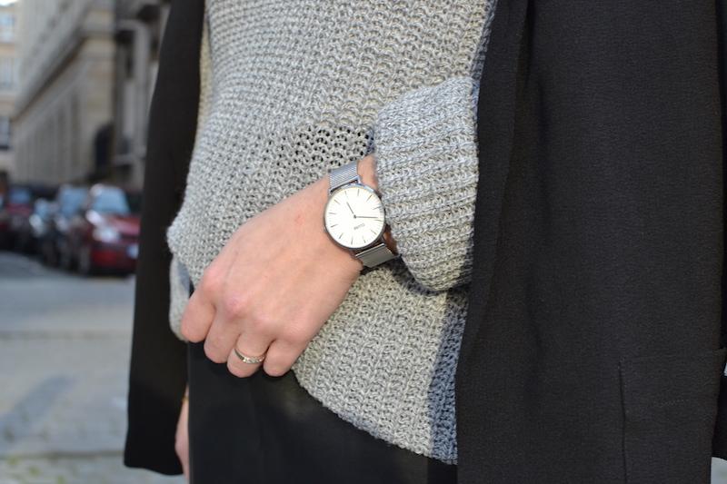 montre argenté Cluse