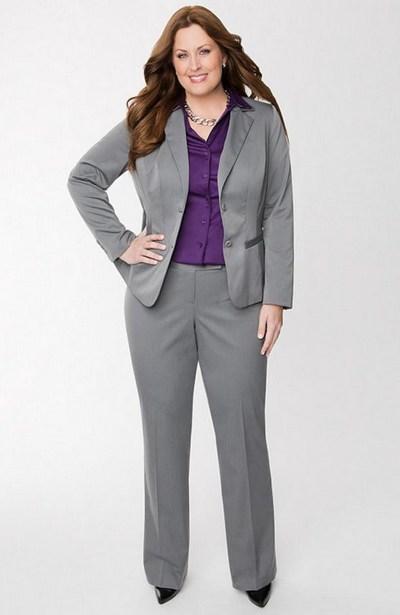 model jas kerja wanita gemuk