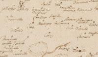 Région comprise entre la forêt de Bray Beaumont-sur-Oise l'Oise et la Seine jusqu'à Château-Gaillard et la forêt de Lyons 1600-1699 - détail - (c) BnF