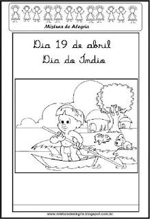 Atividades escolares dia do índio