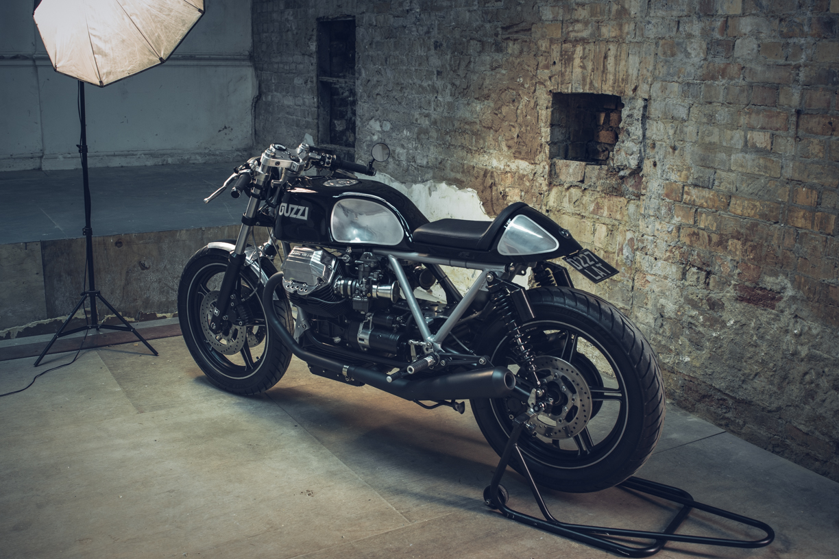 Hell Kustom Moto Guzzi Le Mans 1000 By Side Rock Cycles