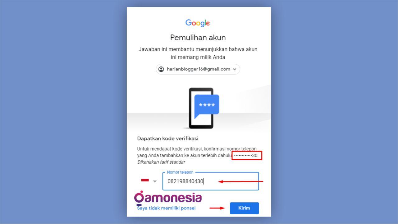 jika lupa password gmail android