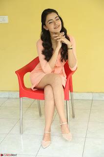 Rukshar Mir in a Peachy Deep Neck Short Dress 107.JPG