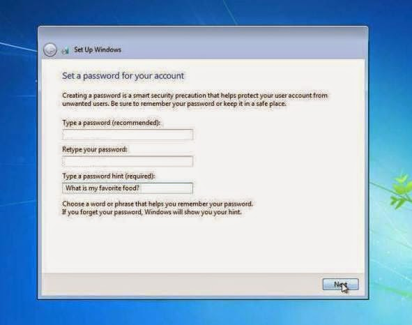 Pemberian Password pada PC