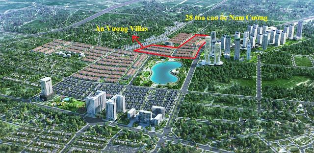 Phối cảnh dự án An Vượng Villa Dương Nội