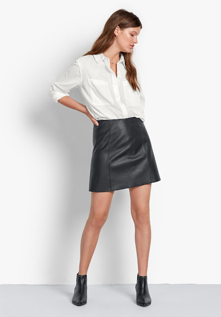 hush leather mini skirt