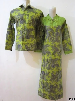 baju couple batik lengan panjang modis