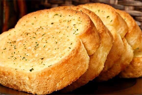 resepi mushroom soup garlic bread