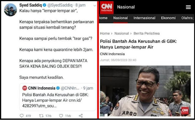 Menpora Malaysia Bantah Pernyataan Polisi Indonesia