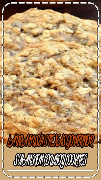 LAURA BUSH'S TEXAS GOVERNOR'S MANSION COWBOY COOKIES, I can hardly wait to share the great cookie recipe with you. In short, this is an upgraded version of Oat Cookies. Solid and firm, they are full of oats, coconut, pecans and very good chocolates. #cowboy #cookies #coconut #choocolate #desserts #recipes