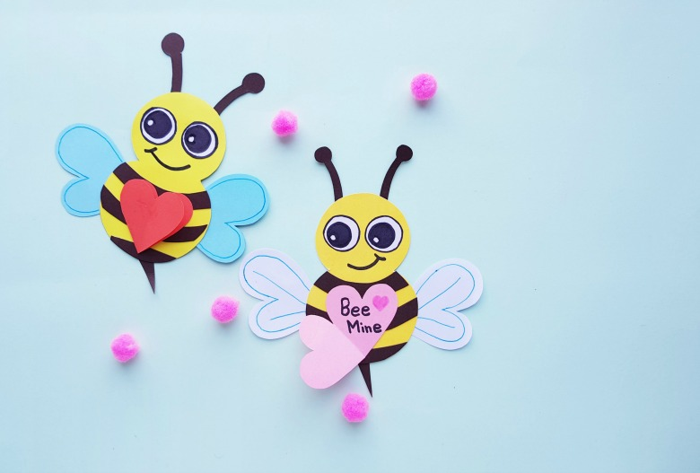 Valentine craft for kids - bee mine