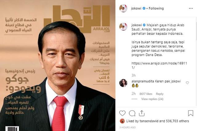 Tak Sembarangan, Alasan Majalah Arab Saudi Tampilkan Presiden Jokowi di Sampulnya, Ikut Bangga Ternyata Ini...