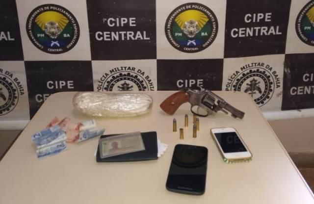 Itiruçu: Arma e drogas são apreendidas e homem morre em confronto com Cipe Central