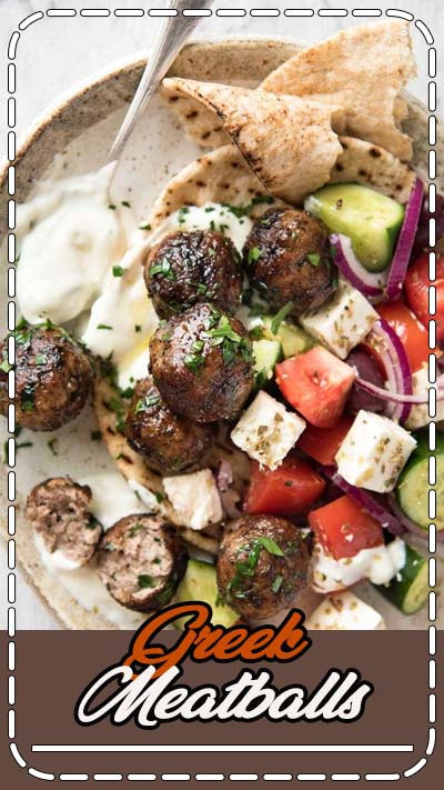 Juicy Greek Meatballs (Keftedes), beautifully flavoured with red onion, parsley, a hint of mint and dried oregano with a slightly crispy surface. See recipe video below.