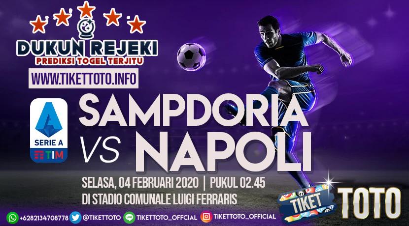 Prediksi Pertandingan Sampdoria vs Napoli 04 Februari 2020
