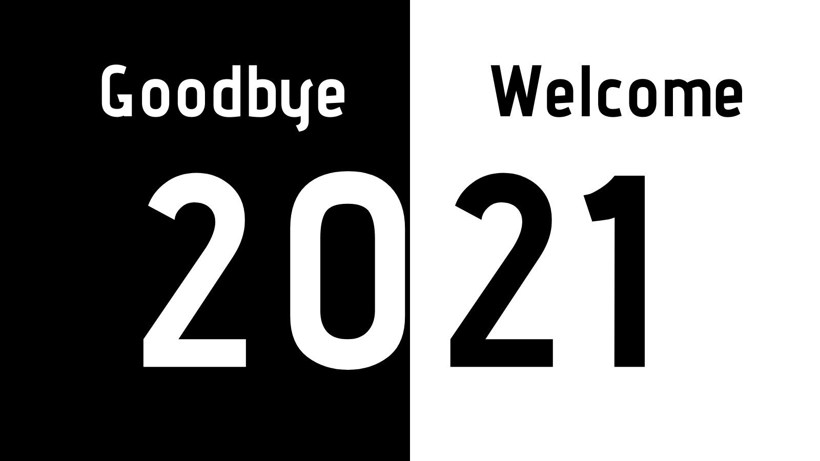 Goodbye 2020! Welcome 2021!