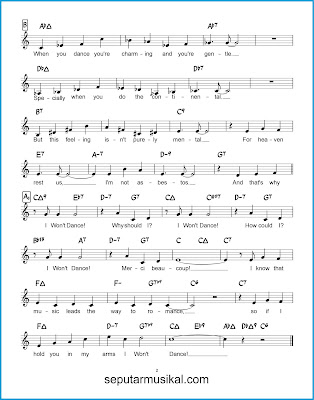 I Won't Dance 2 chords jazz standar
