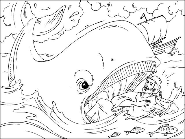 Dorable Dibujos De La Biblia Para Colorear Jonah Cresta - Páginas ...