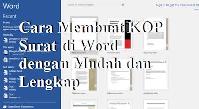 Cara Membuat KOP Surat di Word dengan Mudah dan Lengkap