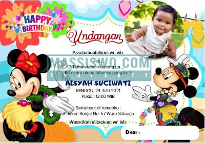 download kartu undangan ulang tahun anak gratis