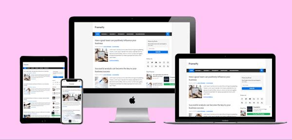 Download Frameify - Responsive Blogger Template