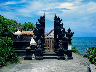 Enjung Galuh Temple At Tanah Lot Temple Region Bali Indonesia