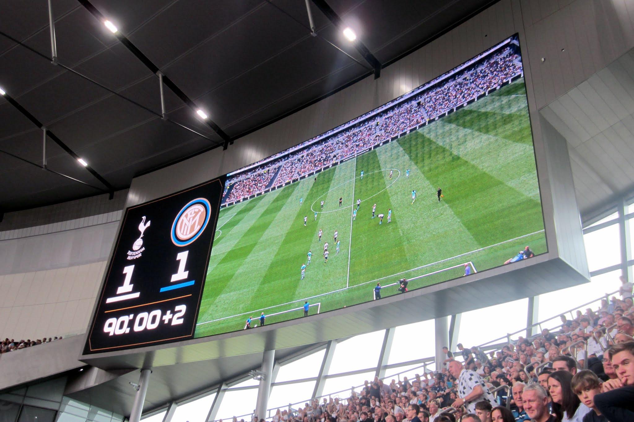Video screen at Tottenham Hotspur Stadium