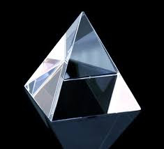 """Crystal"" Pyramid Made of Quartz Glass"